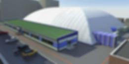пневмоопорная конструкция для футбольного поля