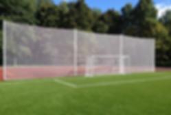 ограждение из капроновой сетки для футбольных полей