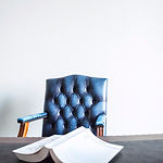 Blue Leather Chair