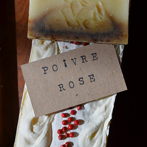 SAVON AUX POIVRES ROSES ET YLANG YLANG