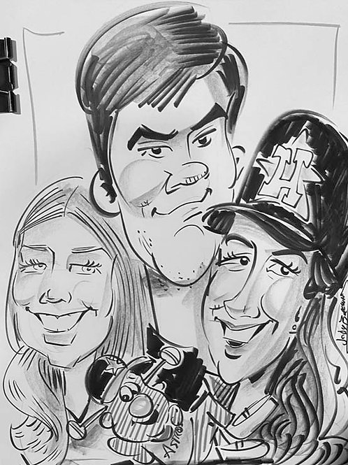 3 People or more Group Caricatures