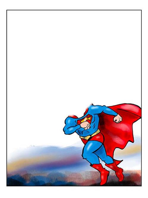 Super Man Running