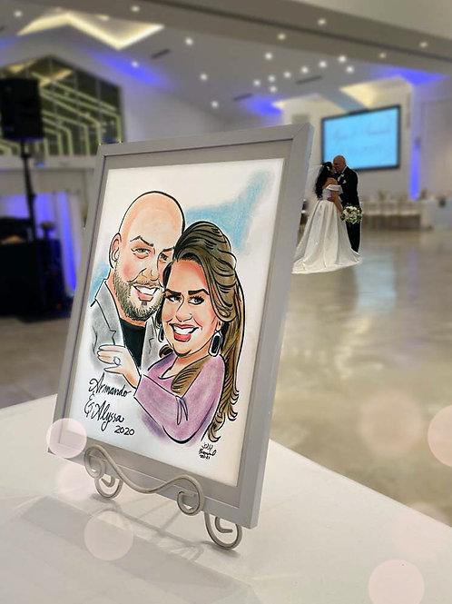 Engagement Caricature