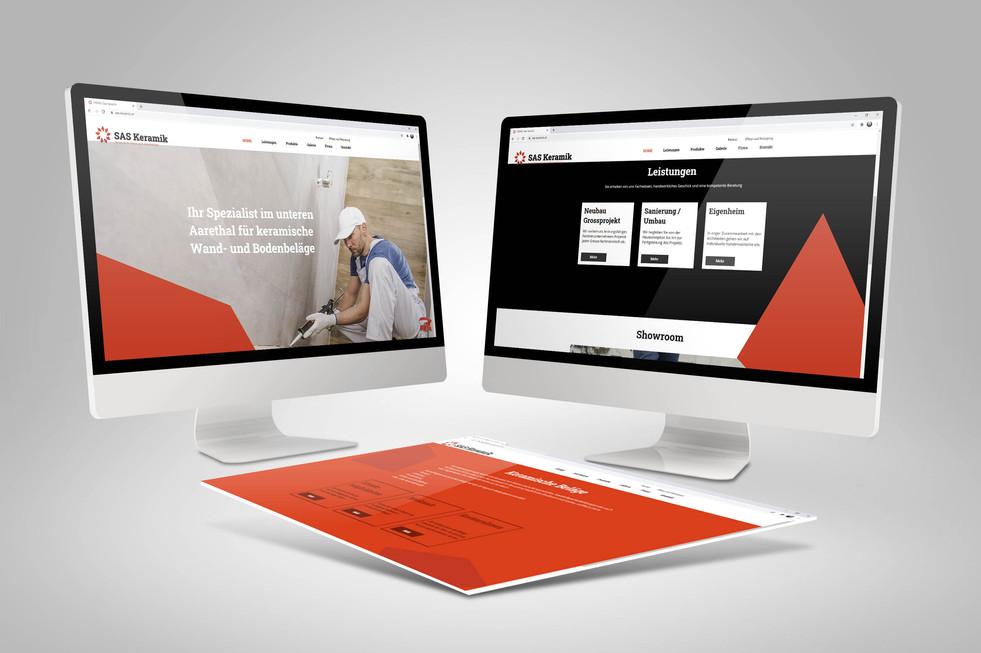 Redesign Webseite SAS Keramik GmbH