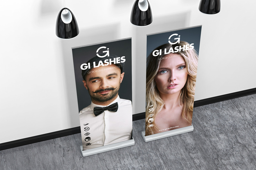 Rollup Display GI Lashes