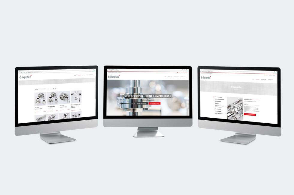Redesign Webseite liquitec AG