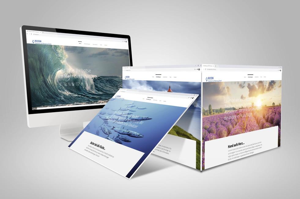 Redesign Webseite Accon Treuhand