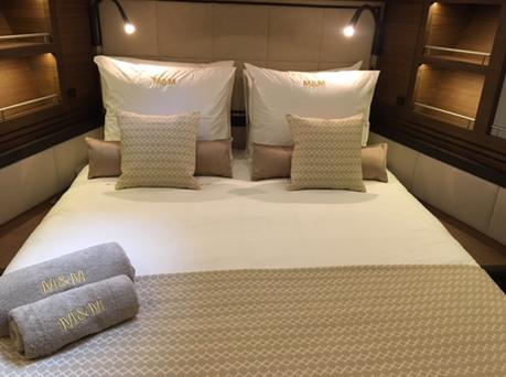 yacht-interior design-bed linen
