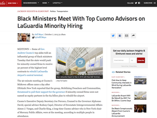 Black Ministers Meet With Top Cuomo Advisors on LaGuardia Minority Hiring