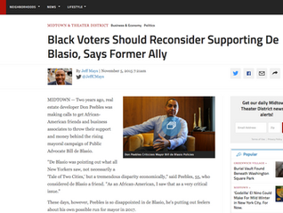 Black Voters Should Reconsider Supporting De Blasio, Says Former Ally