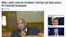 Why I won't vote for de Blasio: Talk but too little action for minority businesses