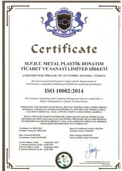 M.P.D.T. ISO 10002 ENG 2014