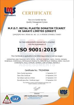 M.P.D.T. ISO 9001 ENG 2018