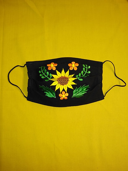 Yellow Flower Face Mask