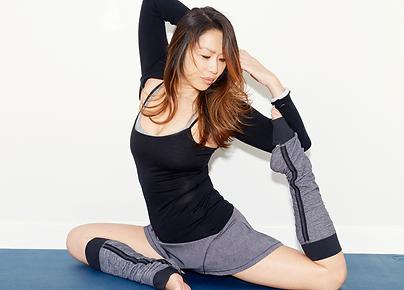 Karen Law practising yoga & pilates