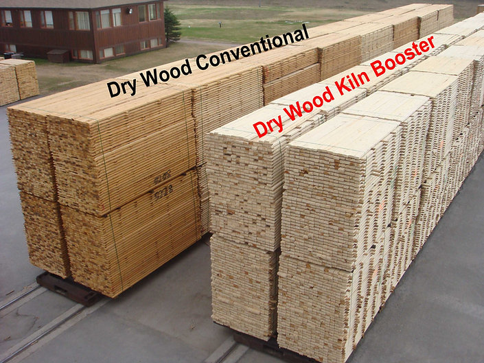 Comparaison of conventional vs Kiln Booster dry wood