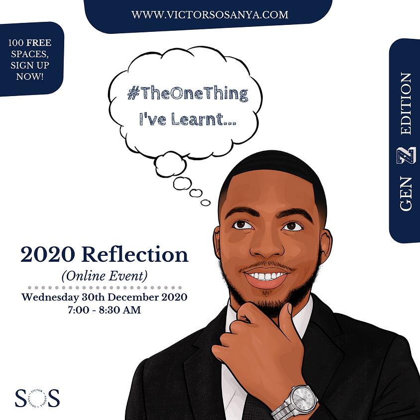 #TheOneThing I've Learnt: 2020 Reflection