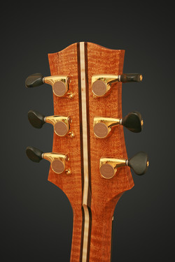 BACK OF HEADSTOCK FLAMED MAHOGANY