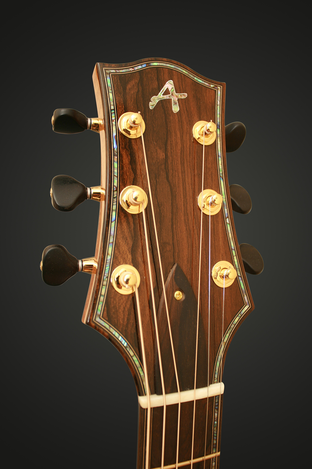 ZIRICOTE HEADSTOCK WITH ABALONE PURFLINGS