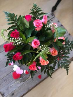 valentines pink roses