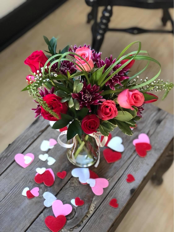 valentines small arrangement