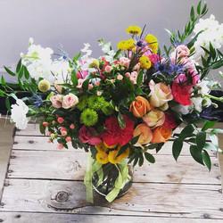 large birthday flowers