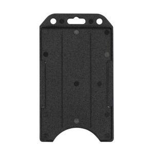 Badge Holder black, vertical semi rigid