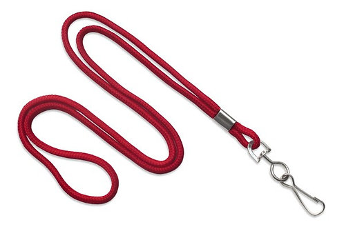 Red Round 1/8 Lanyard with a Metal Swivel Hook)