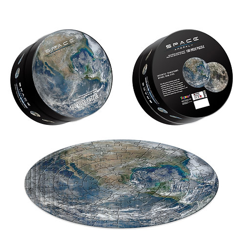 Space Anomaly - 100 Piece Puzzle: Earth & Moon