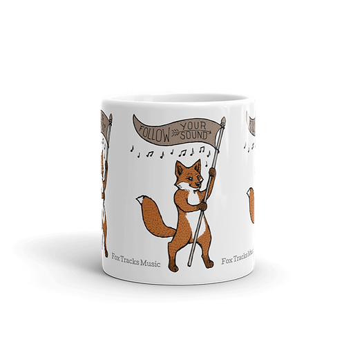 Fox Tracks Flag Mug
