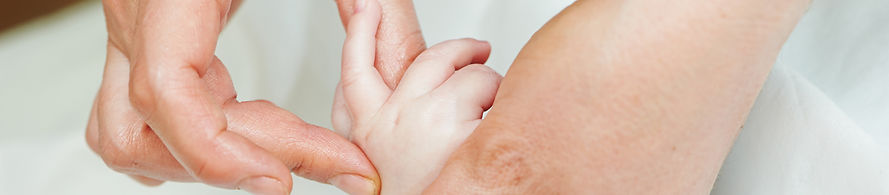 Osteopath treating a child