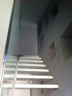 2 floors, a stair