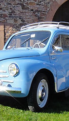 RENAULT 4CV SPORT 1958 - CHROME & CARBU
