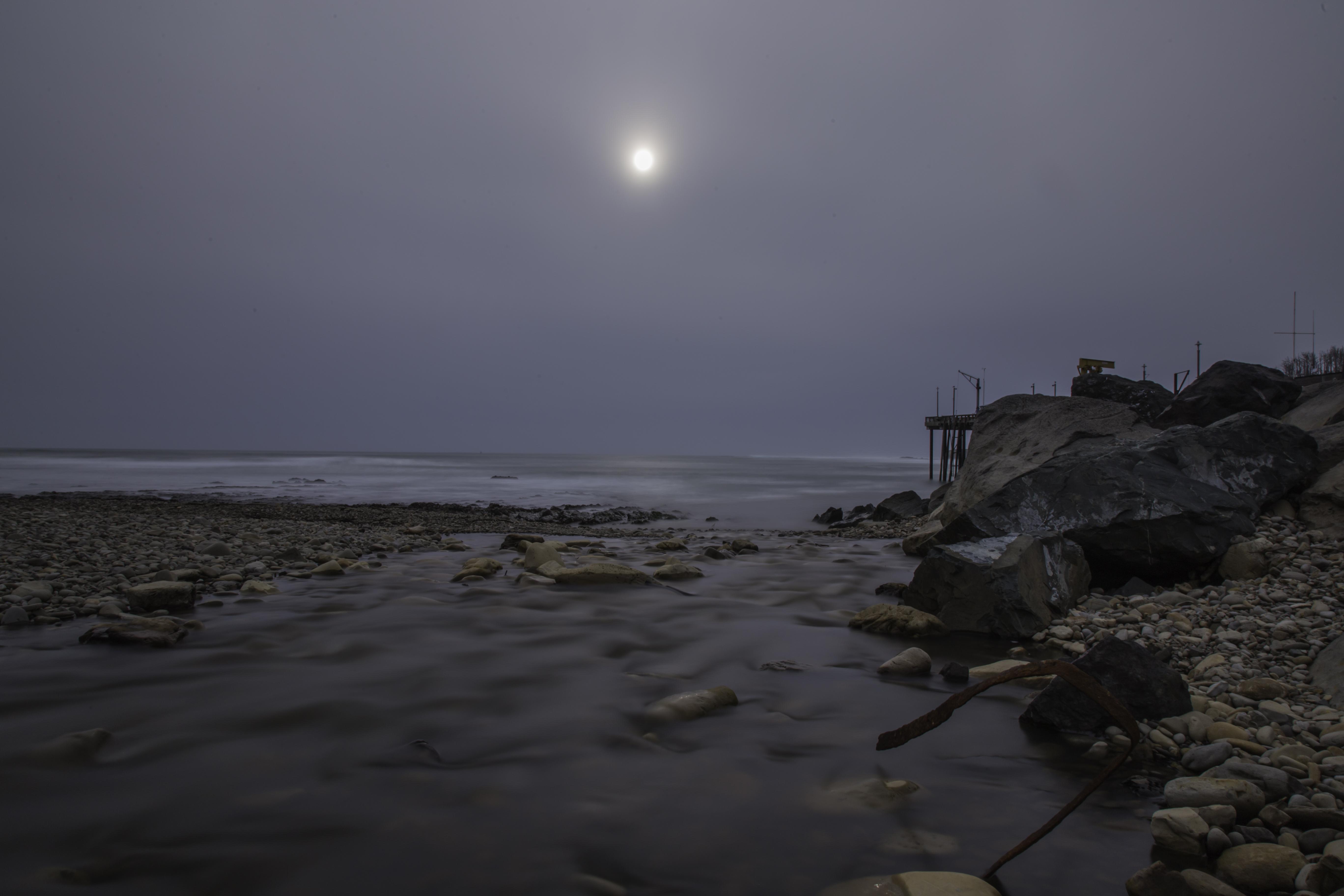 Beach night sky