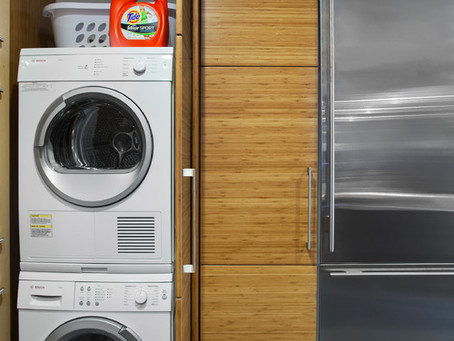 Many Smaller Homes do not Have the Space for a Full Size Washer & Dryer.  Lee's Summit Laundry Does