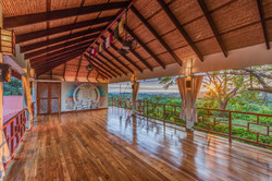 Sunset view from tree top yoga shala
