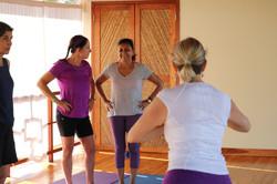 Light hearted yoga practice...