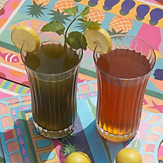 Iced Tea and Lime mint cooler