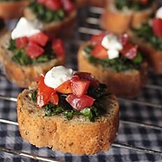 Spinach and Tomato Bruschetta