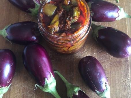 Brinjal Pickle, Goan style