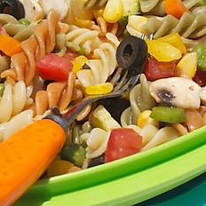 Colourful pasta salad