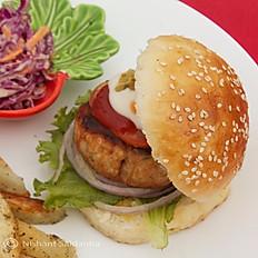 Chicken or Bean Burger