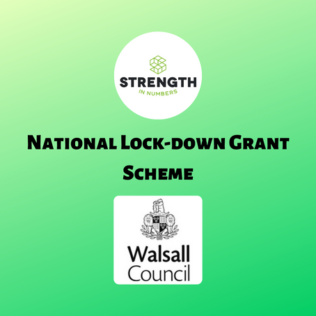 National Lock-down Grant Scheme (information correct as of 11/11/2020)