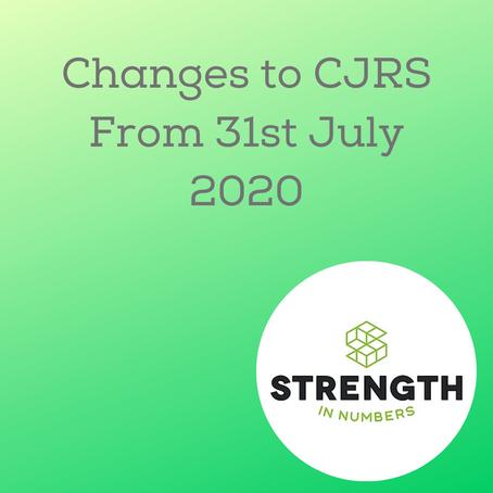 Changes to the Coronavirus Job Retention Scheme on 31 July