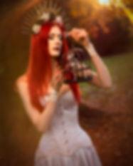 Silver corset