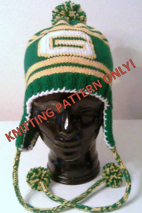 Green Bay Packers Themed Ear Flap Hat