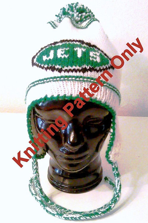 NY Jets Themed Ear Flap Hat