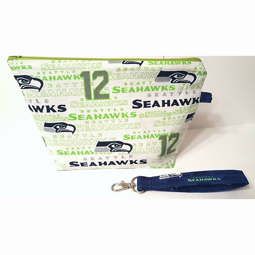 Small Zippered Project Bag - Seahawks