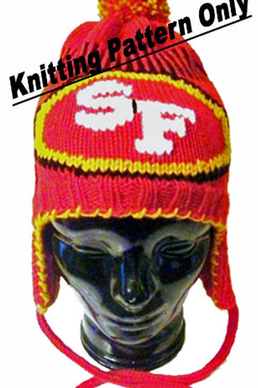 San Francisco 49ers Themed Ear Flap Hat