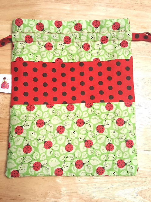 Ladybug Drawstring Project Bag